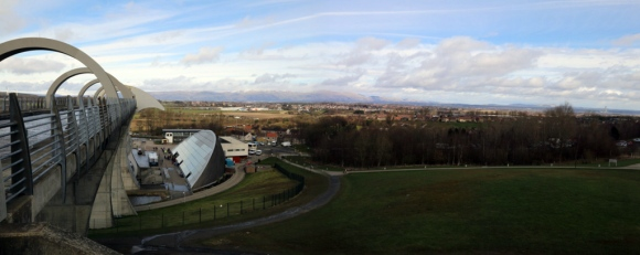 Falkirk Wheel & surrounding countryside