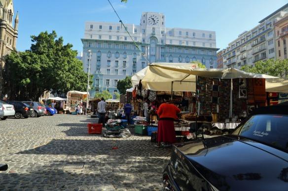 Green market square curio stalls