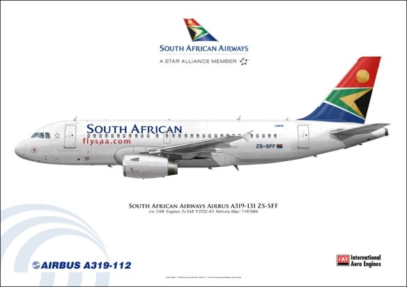 South African Airways A-319