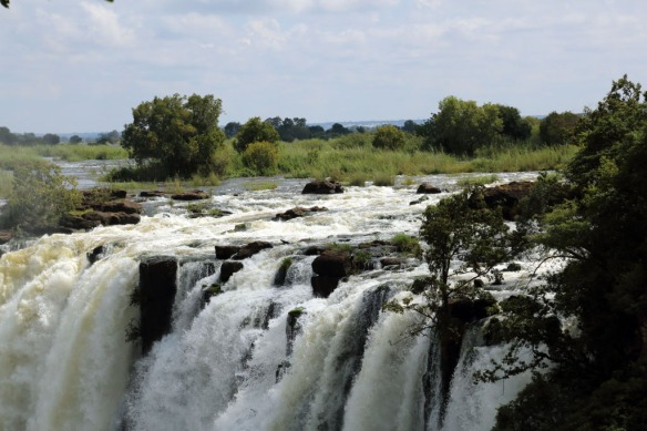 Top of the Falls on Zambia side
