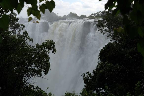 Victoria Falls and immense spray