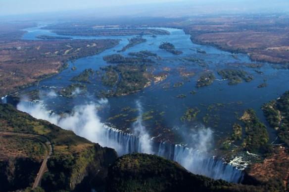 Victoria Falls and Zambezi River
