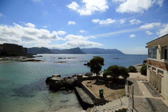 View from Seaforth restaurant where we had lunch across False Bay