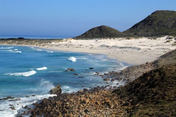 Witsand Beach just north of Misty Cliffs