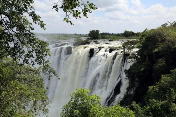 Zambia side of Victoria Falls