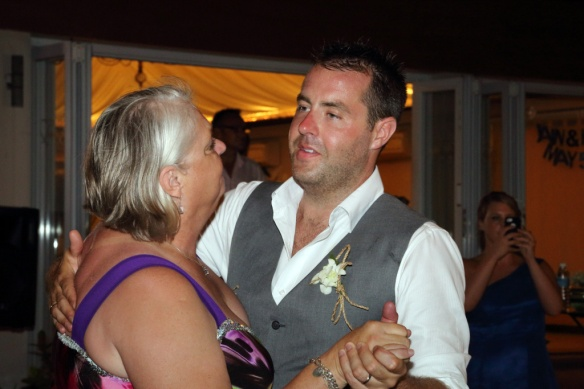Iain and Judi close up first dance