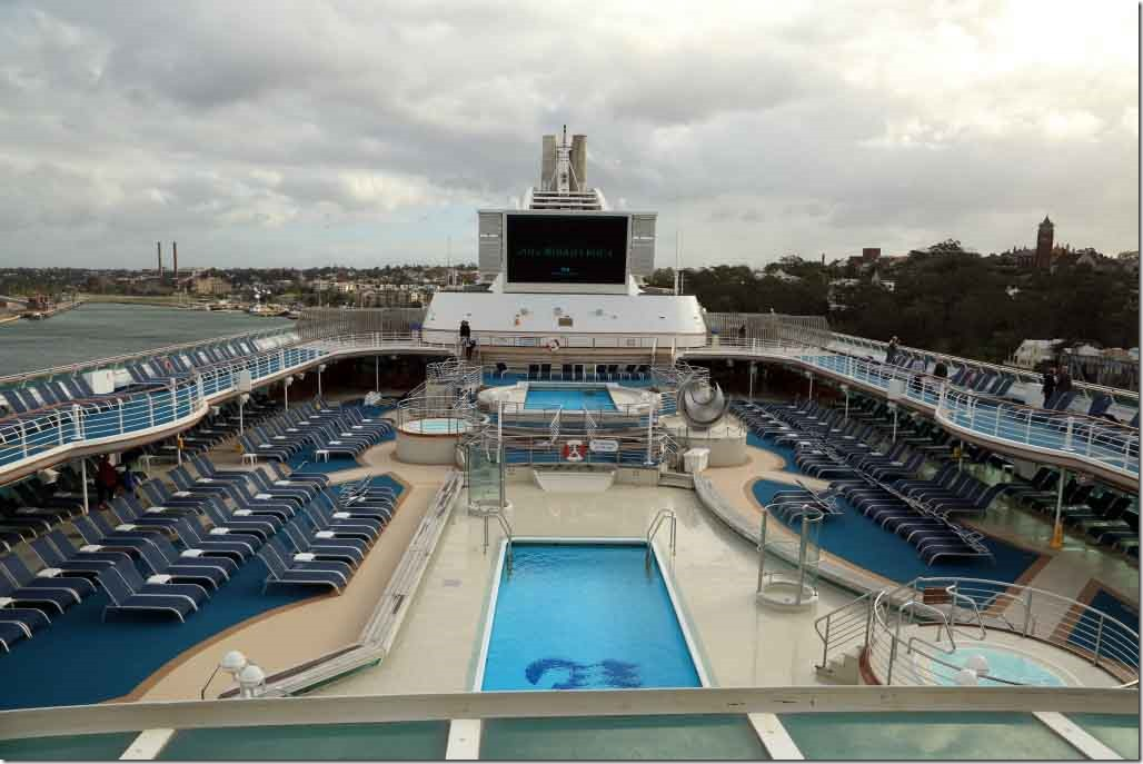 Main pool deck and big screen
