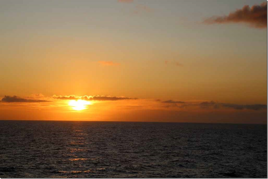 Ship's wake at sunrise 3