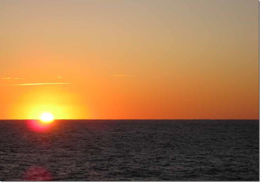 Sun rising in Indian Ocean May 30th