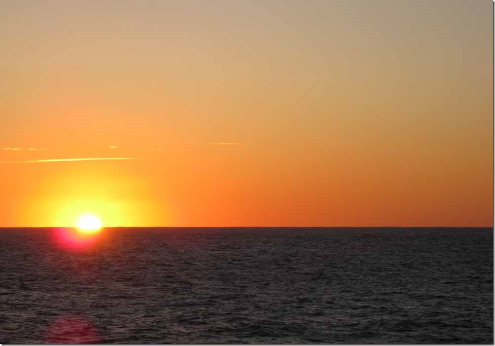 Sun rising in Indian Ocean May 30th