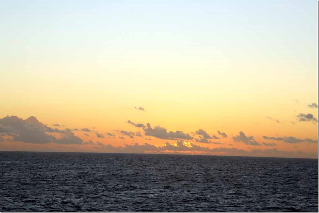Sunset in Indian Ocean May 30th
