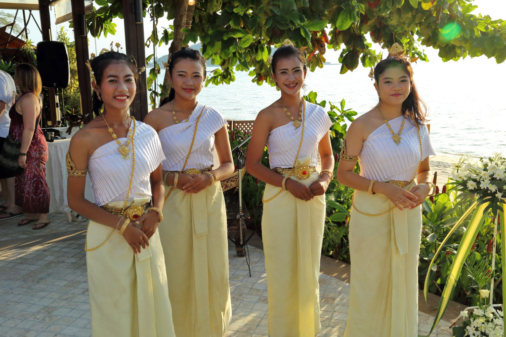 Thai Dancers After Their Performance