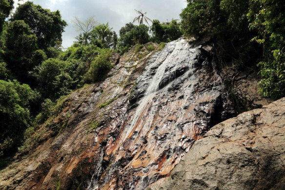 Waterfall above the elephant trek