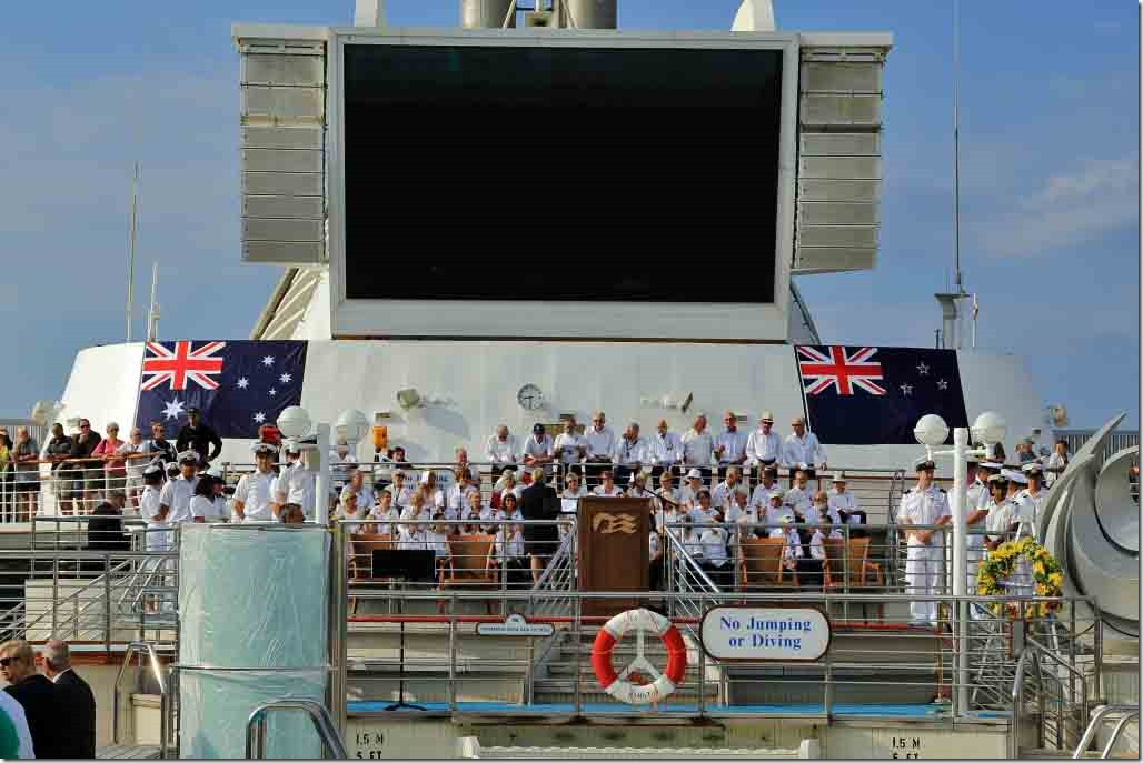 ANZAC Cove service set-up