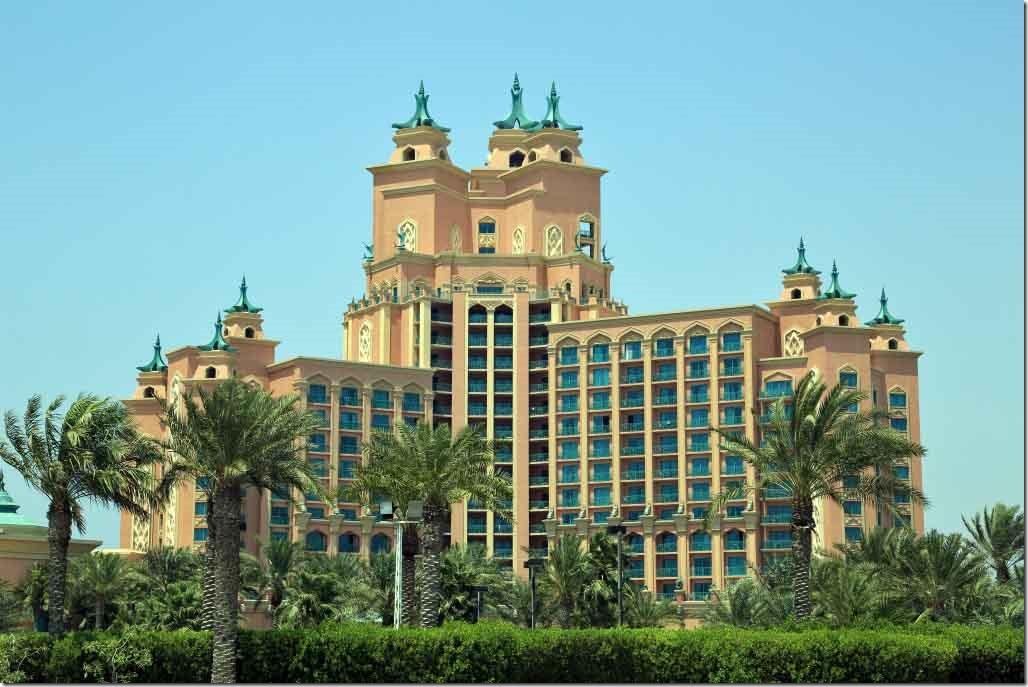 Atlantis Hotel at the end of The Palm