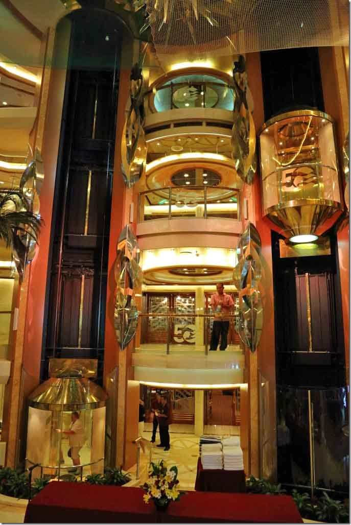 Atrium lifts from Deck 5