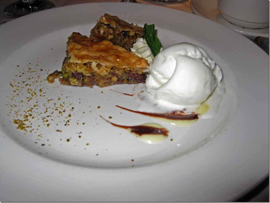 Baklava and ice cream