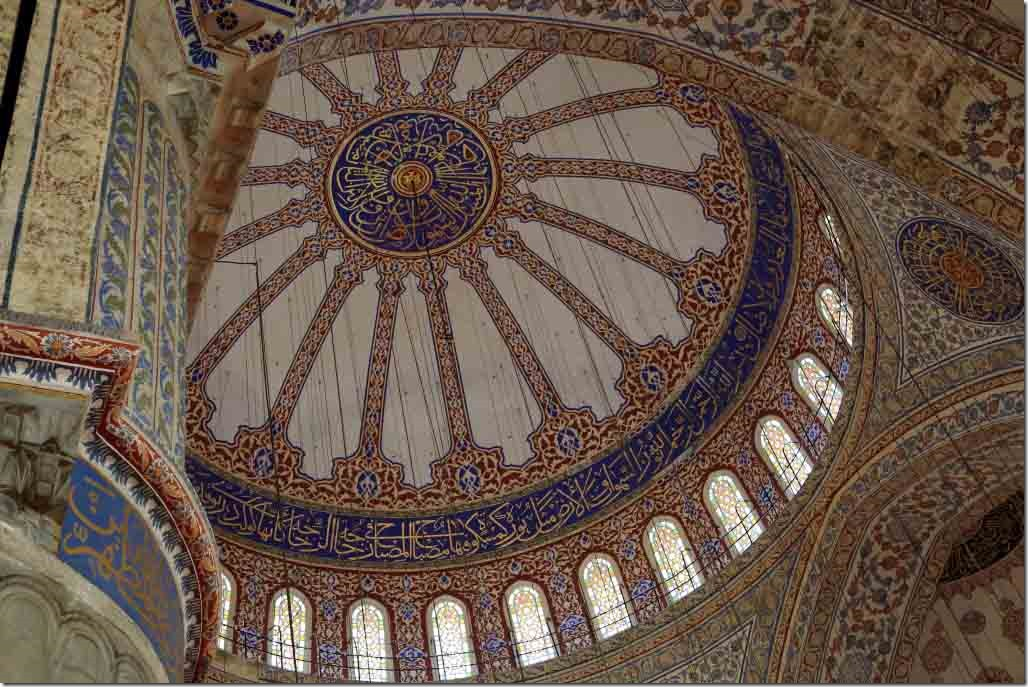 Blue Mosque inside showing main dome