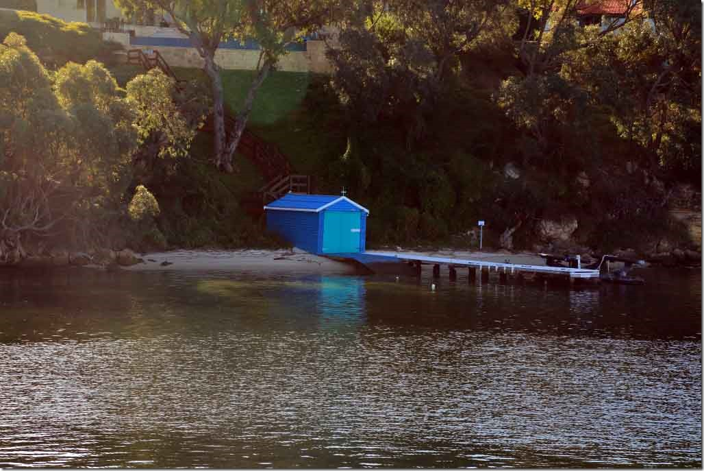 Cruise, homeowner boat shed, which is now a two person yacht club