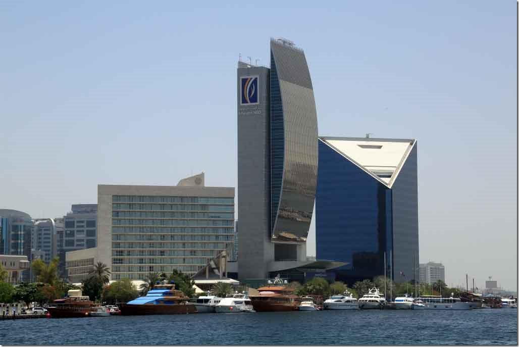 Emirates National Bank of Dubai building on Dubai Creek