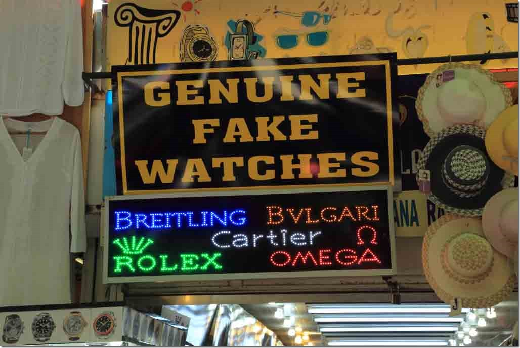 Ephasus exit shop selling fake watches
