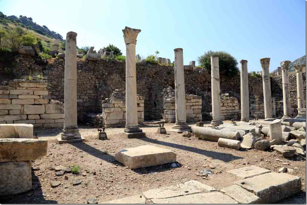 Ephasus market square with individual shops