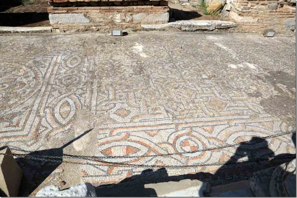 Ephasus mosaic floor infront of terrace houses on Processional Way