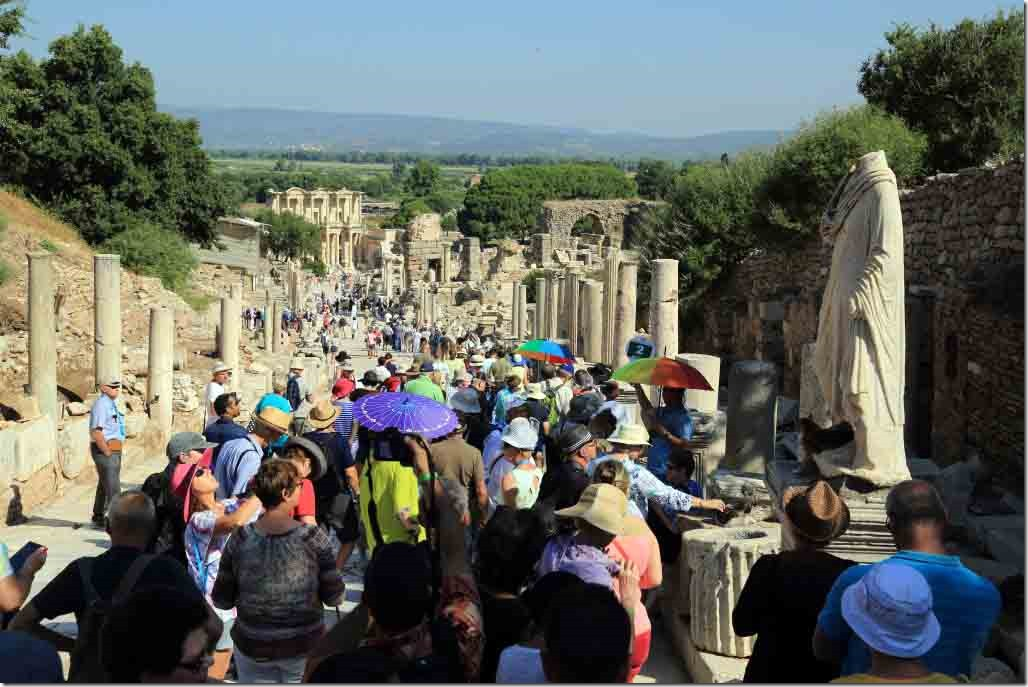 Ephasus Processional Way continues downhill