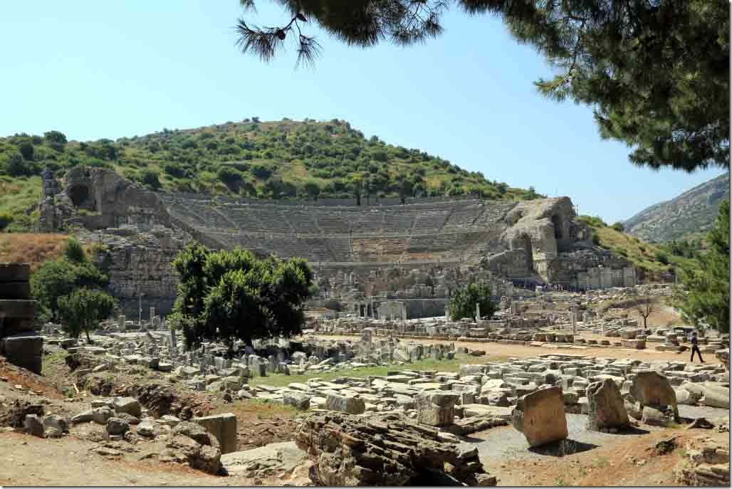 Ephasus Theatre seen from lower exit