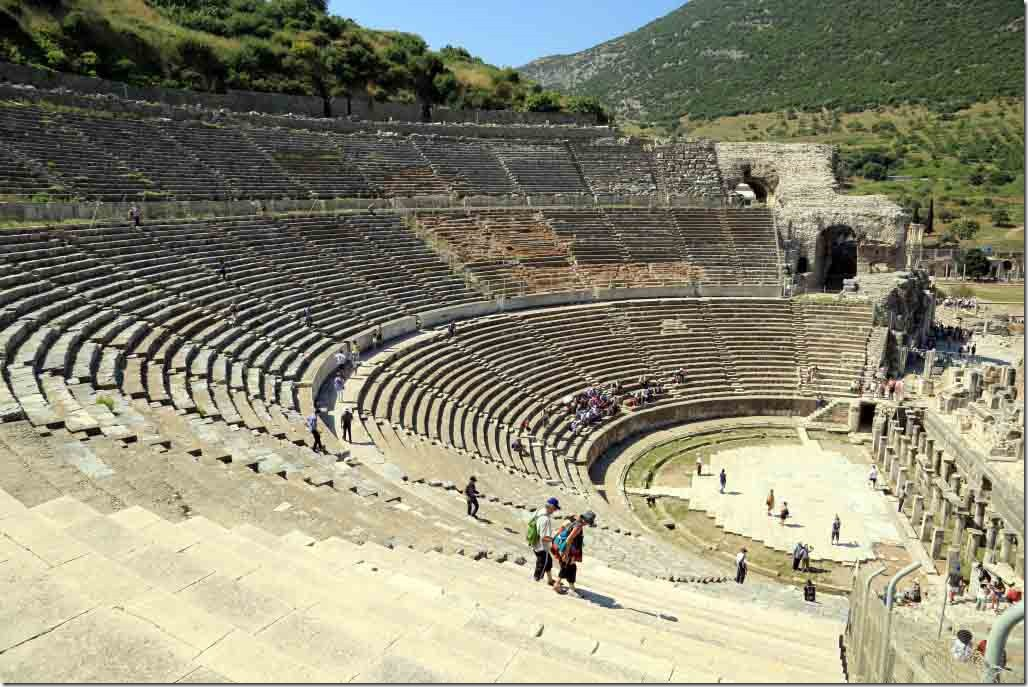 Ephasus Theatre view of seats from up top