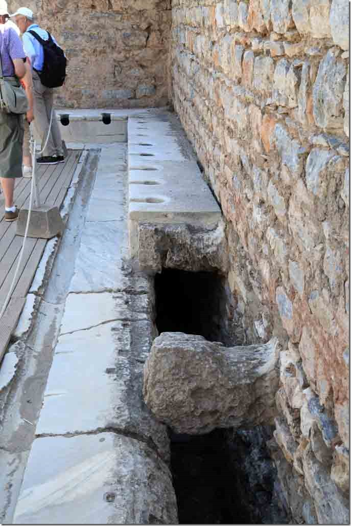 Ephasus toilet block seats and drainage