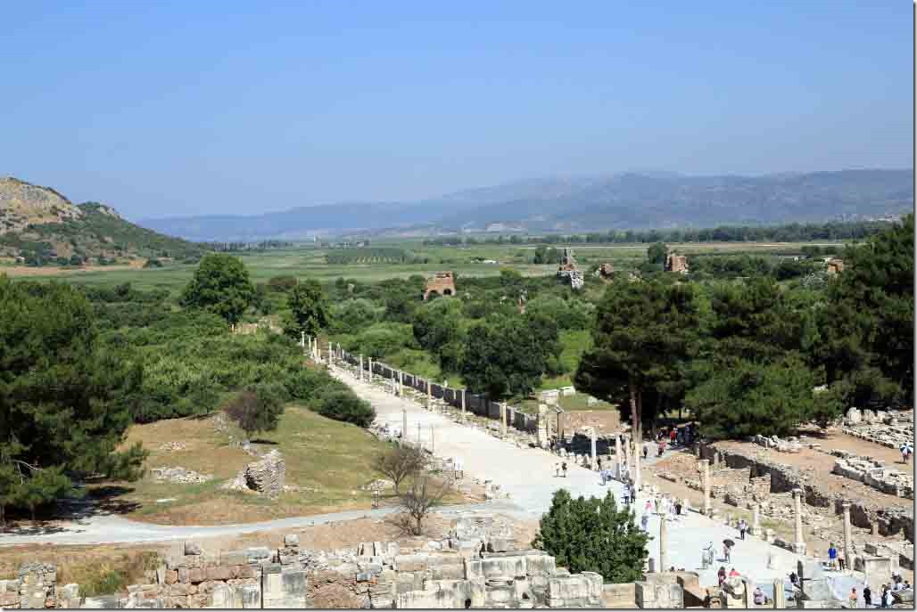 Ephasus view of fertile valley from atop the Theatre