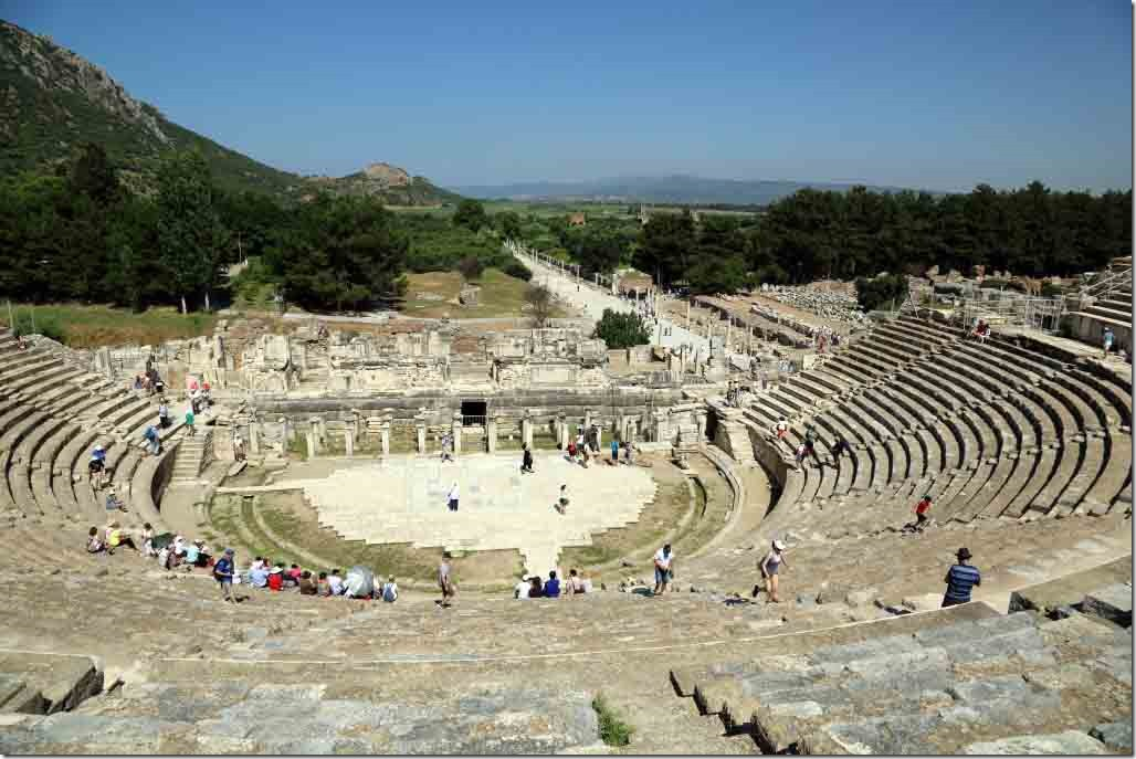 Ephasus view of stage from top