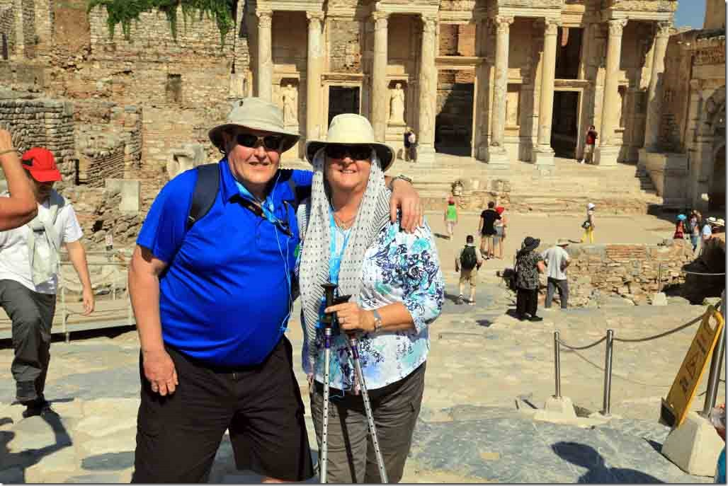 Ephasus with Andy & Judi in front of Library