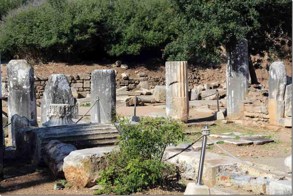 Ephesus original pillars discovered in 1800's by British company building a railway 2