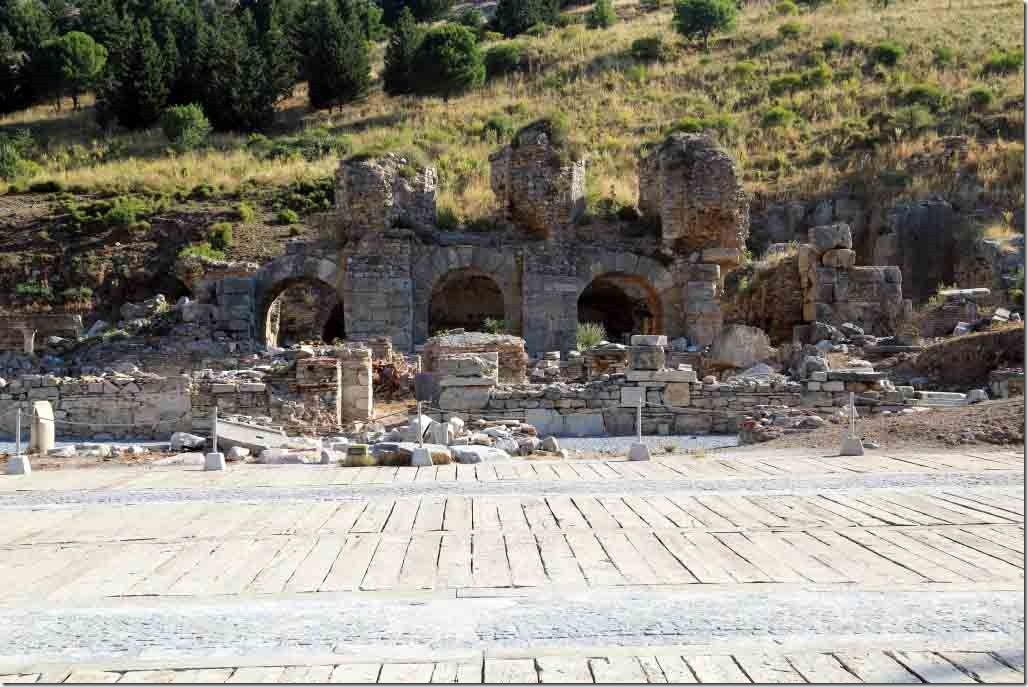 Ephesus Roman Baths at the entrance