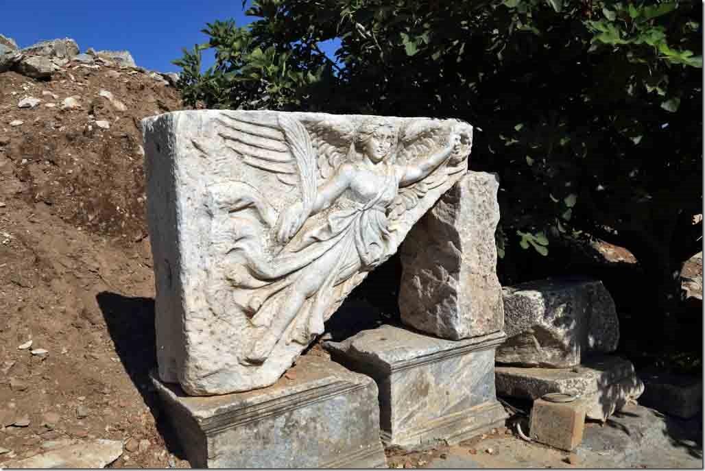 Ephesus statue to Nike on Processional Way