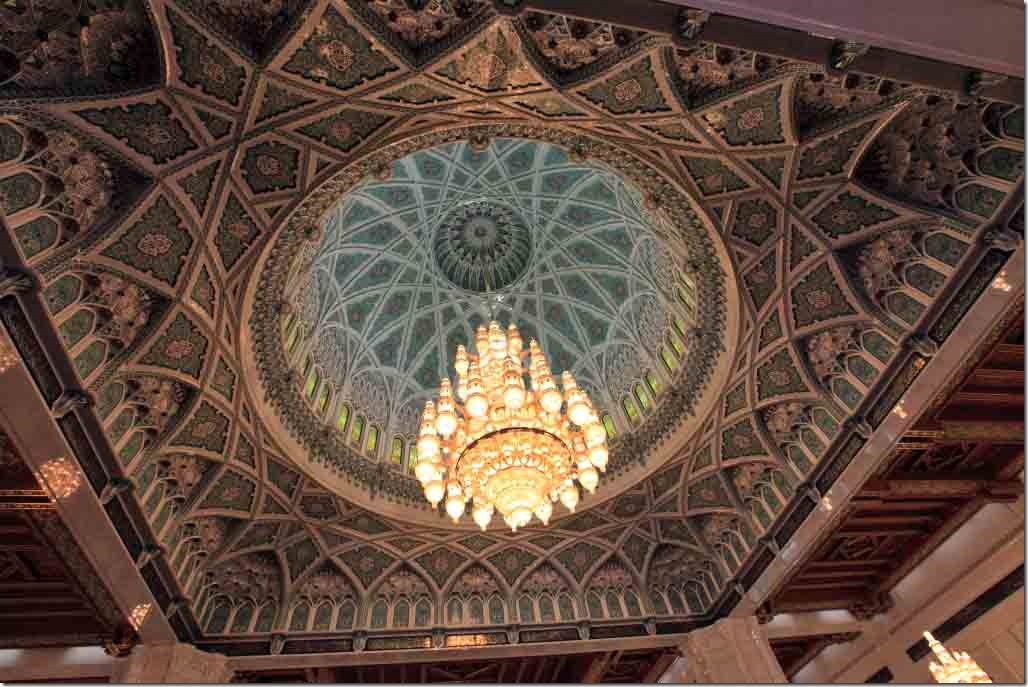 Grand Mosque roof, dome and chandelier