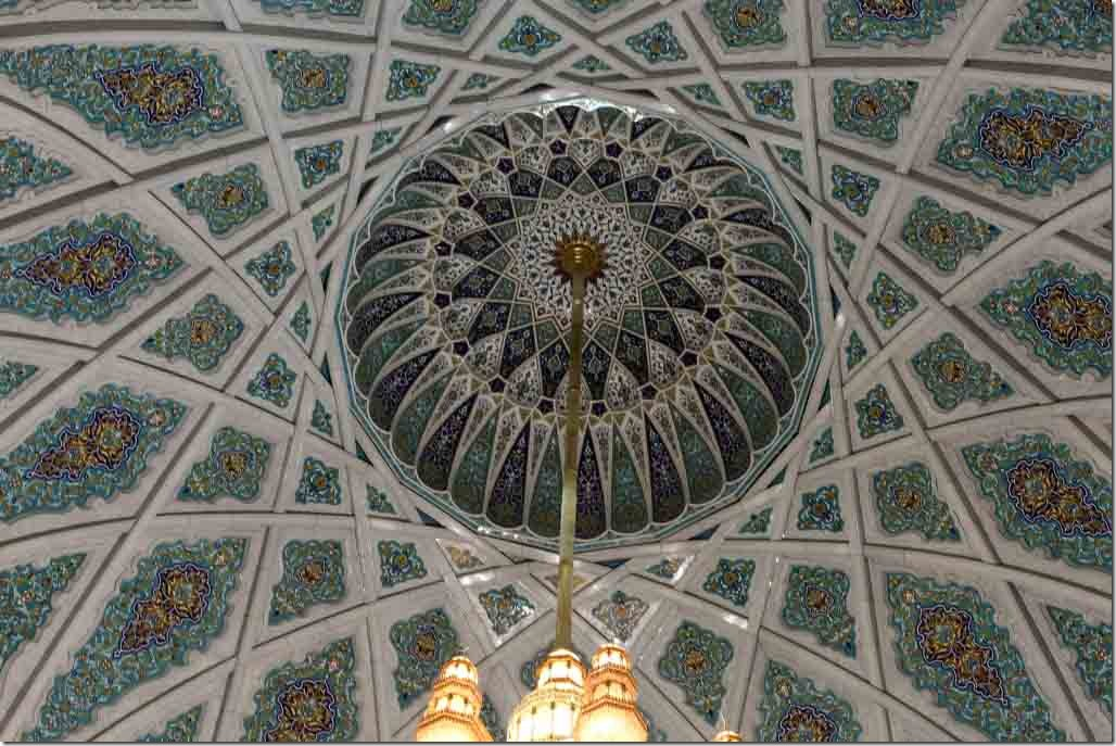 Grand Mosque tile work inside of dome