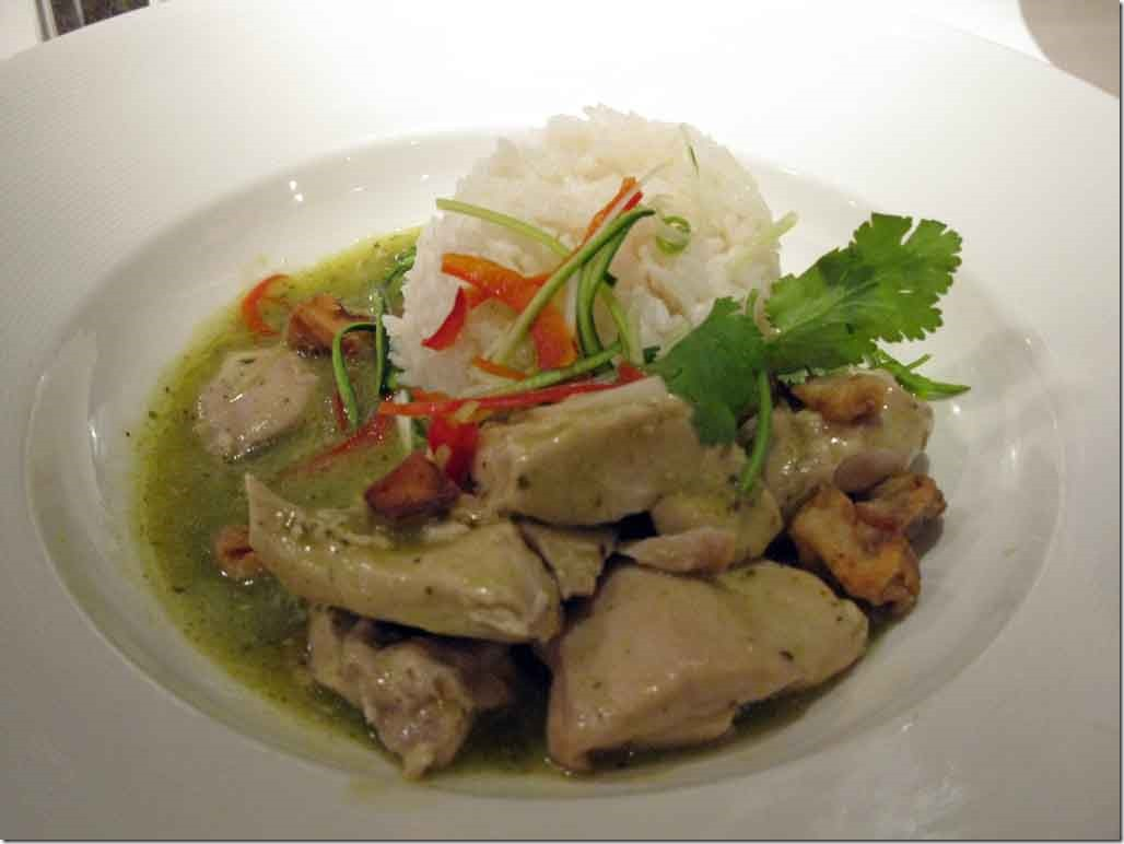 Green chicken curry dinner June 2nd