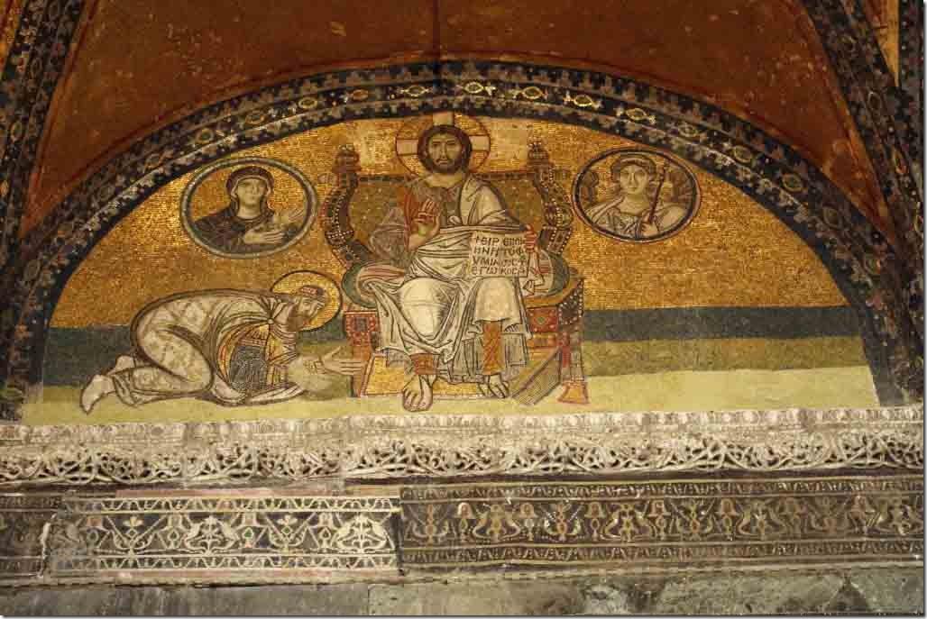 Hagia Sophia Imperial Gate Mosaic