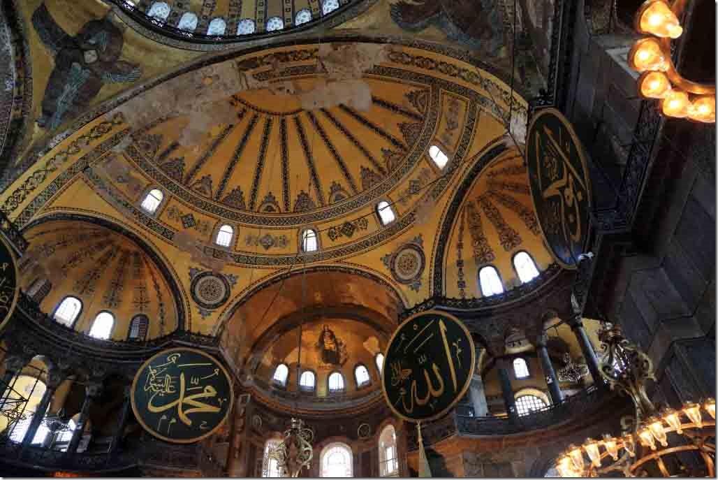 Hagia Sophia interior roof and windows