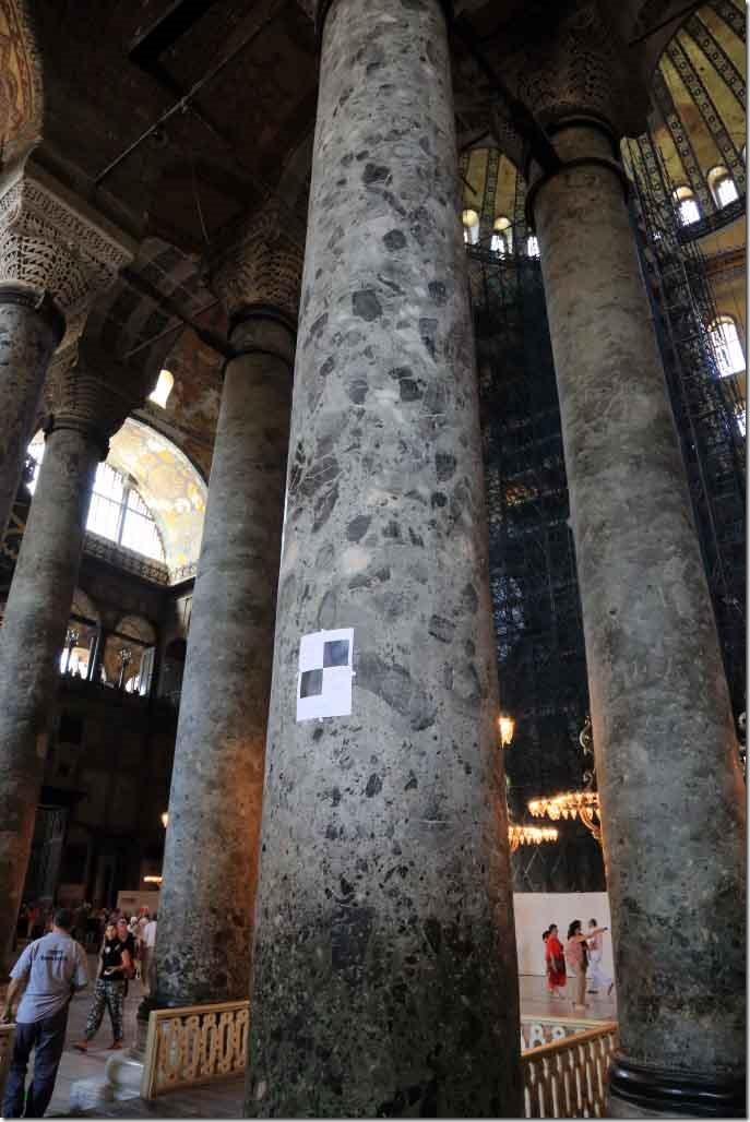 Hagia Sophia solid granite columns