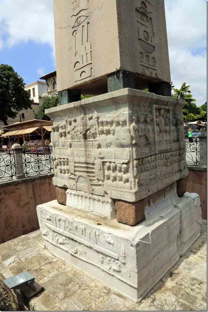 Hippodrome of Constantinople with the Obelisk of Thutmose base depicting Emperor Theodosius