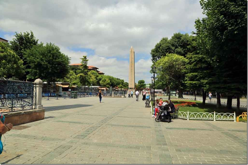 Hippodrome of Constantinople with the Obelisk of Thutmose in background