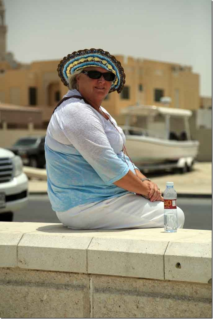 Judi at the public beach by Burj Al Arab Hotel