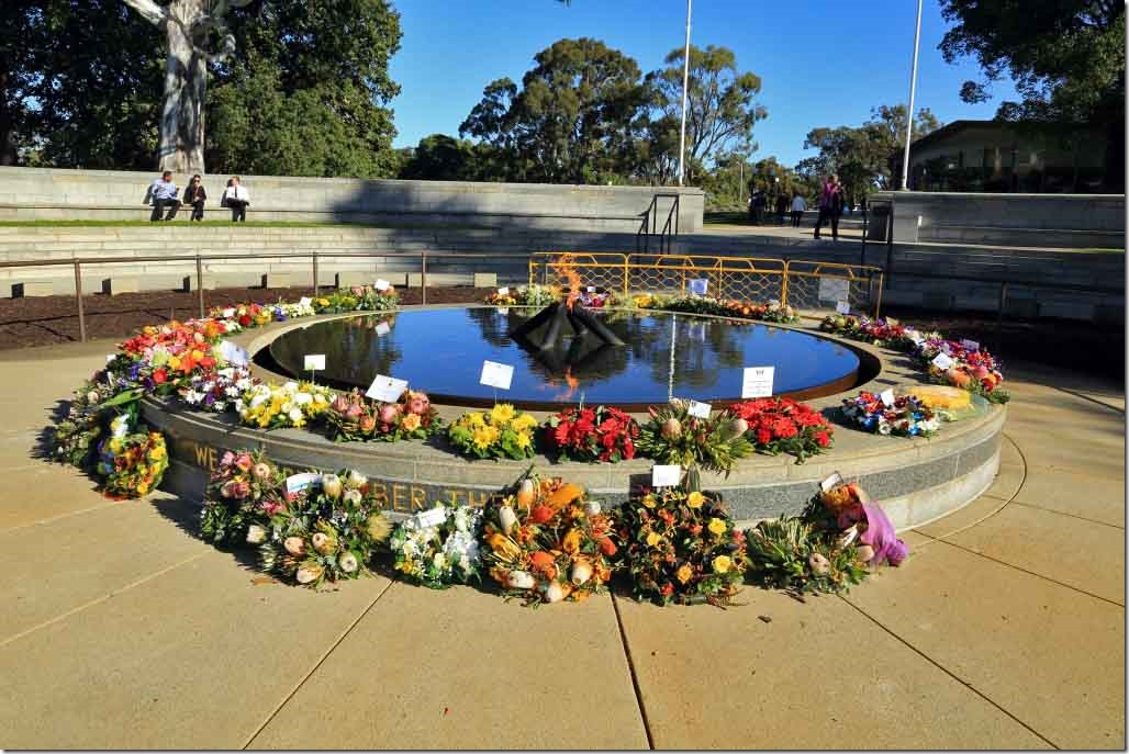King's Park Flame of Remembrance from War Memorial side