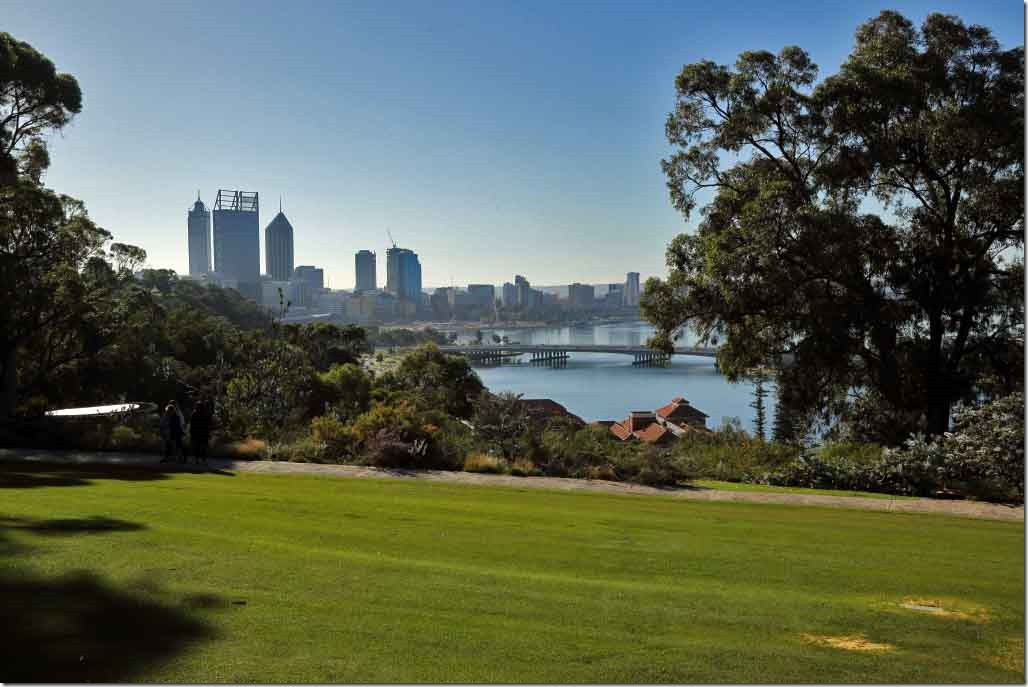 Kings Park looking at downtown Perth CBD