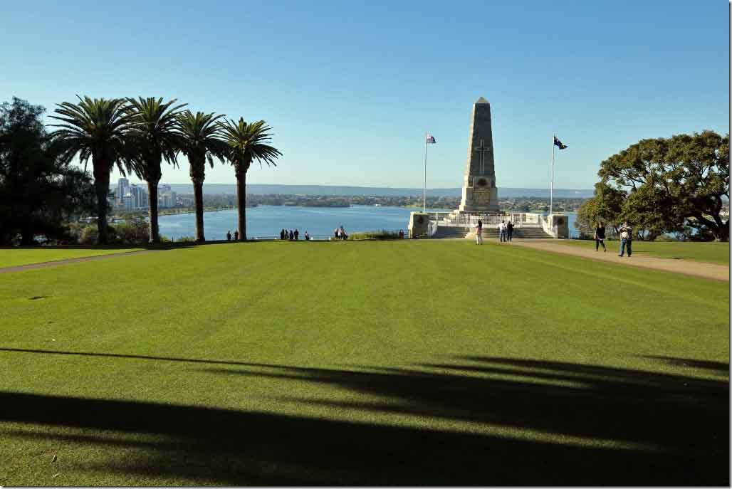 King's Park State War Memorial and palm trees