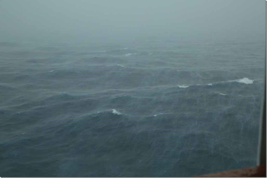 Late afternoon with heavy rain and wind 40 to 50 kts